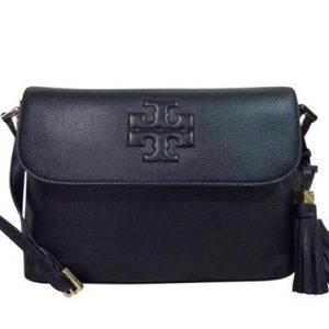 Authentic Tory Burch Thea Black Messenger Bag.